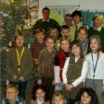Kinder schmückten Polizeibaum