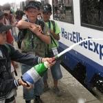 Kinder tauften einen HEX-Zug